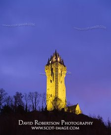 Image - Wallace Monument, Stirling, Scotland, Illuminated