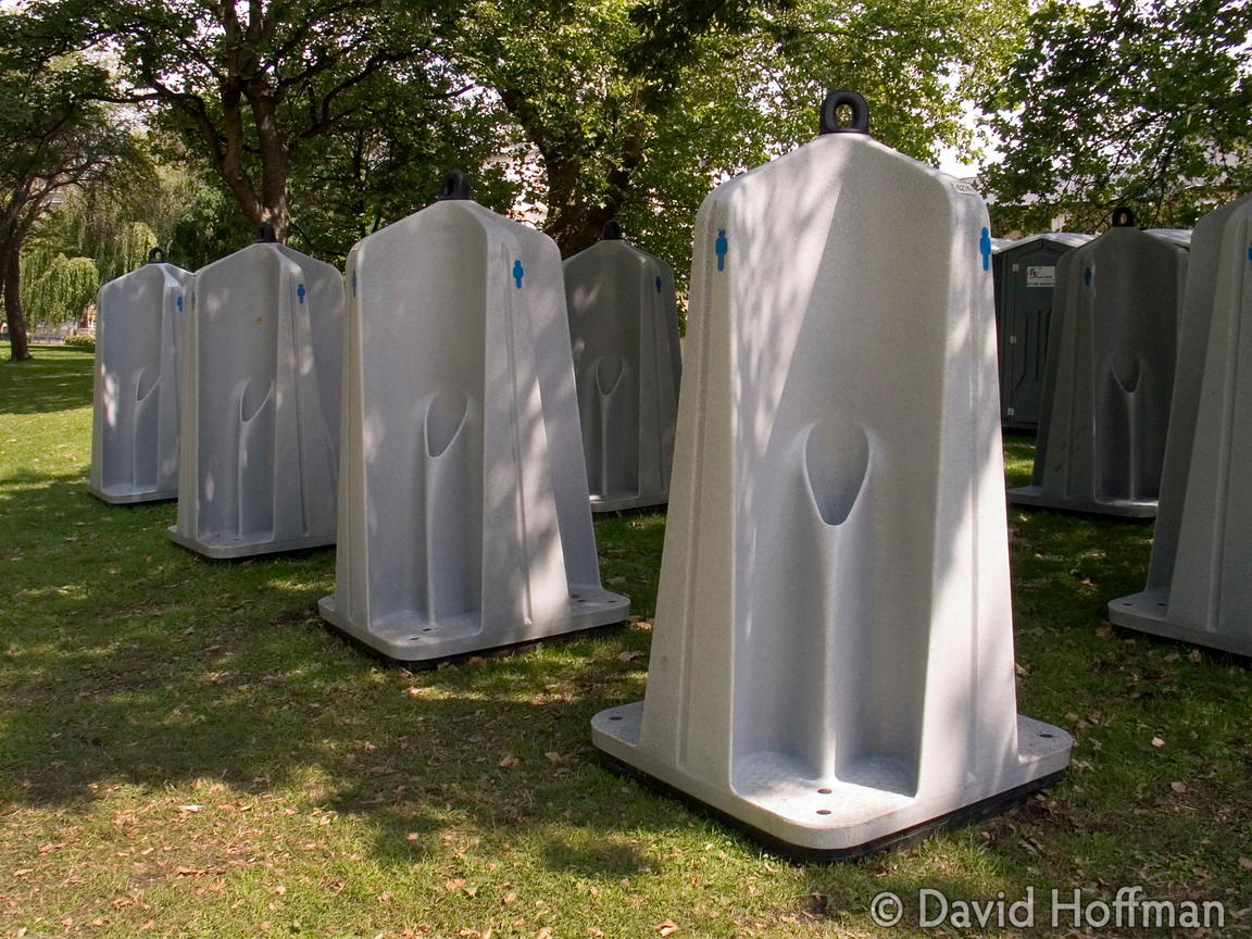 Urinals in Victoria Park, London