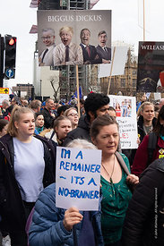 #124579,  Anti-Brexit march to Parliament Square, London, 23rd March 2019.  A million people of all ages marched demanding a ...