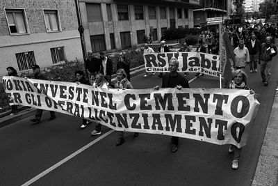 Jabil workers' demonstration in Milan on Oct 3rd 2013