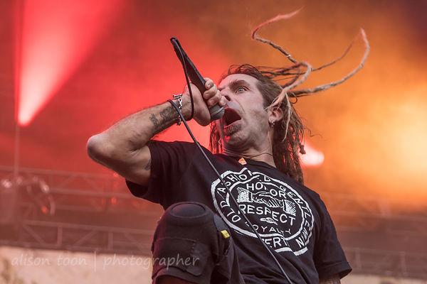 Randy Blythe, vocals, Lamb Of God