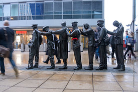 #125733,  'Victory over Blindness' by Johanna Domke-Guyot at Piccadilly station, Manchester.  The sculpture was commissioned ...