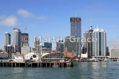 Central Business District (CBD) from Waitemata Harbour, Auckland, North Island, New Zealand
