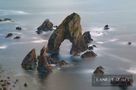 Ocean coast with rock arch - Europe, Ireland, Donegal, Dunglow, Crohy Head - digital
