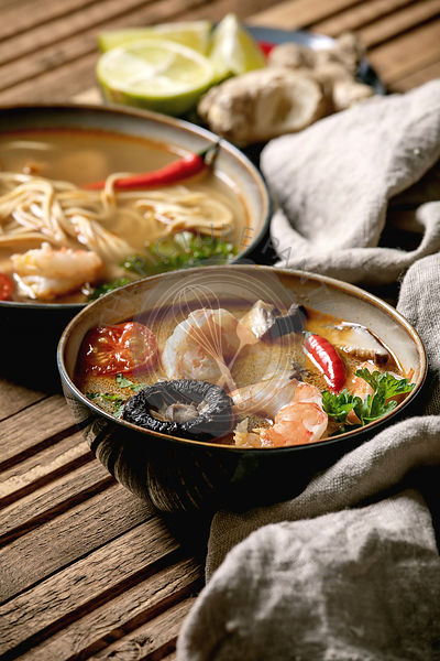Two spicy asian soups