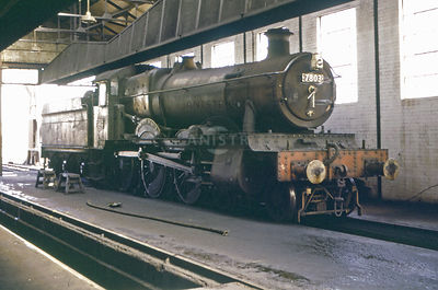 PHOTOS OF 7800 MANOR CLASS 4-6-0 STEAM LOCOS