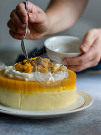 Passion Fuit Mango Cheesecake