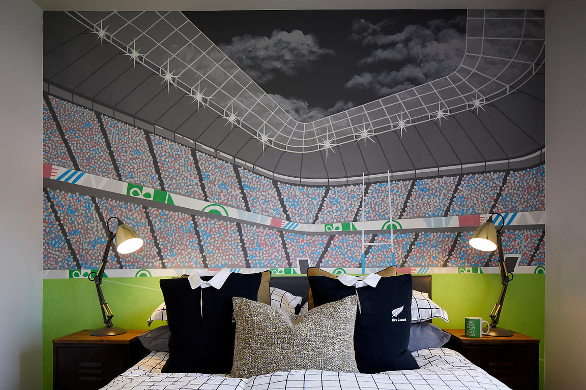 Stadium mural bedroom