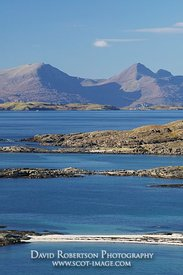 Image - Rum and Muck from Sanna Bay, Ardnamurchan, Scotland