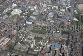 Liverpool area surround Abercromby Square and the University of Liverpool Campus