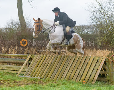 Martin Reason jumping a hunt jump after the meet