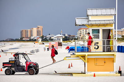 Clearwater Beach lifeguard