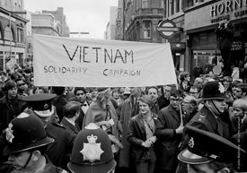 #70426,  Banner for the Vietnam Solidarity Campaign, anti-Vietnam war demonstration from Trafalgar Sq to Grosvenor Sq Sunday ...