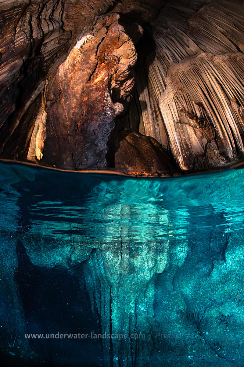 Underwater cave from Misool