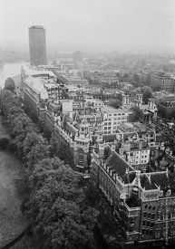#124537,  View of Millbank Tower from the Victoria Tower at the Houses of Parliament, 1973.