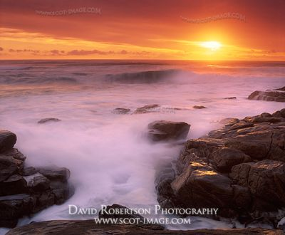 Image - Sunset from Traigh Bharlais, Vatersay, Na h-Eileanan Siar, Scotland