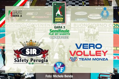Sir Safety Conad Perugia vs Vero Volley Monza, Gara 3, Semifinale Play Off Scudetto, Superlega Credem Banca, Campionato Itali...