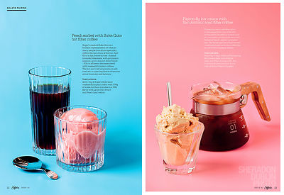 Caffeine Magazine Gelato & Coffee Pairings Editorial