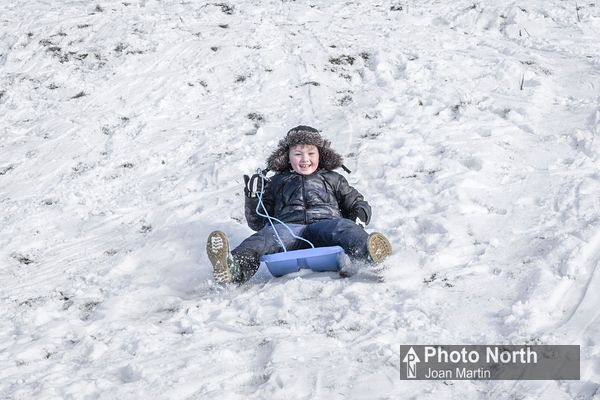 SLEDGING 14B - Young boy sledging