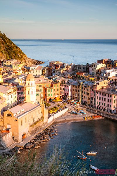 Sunset in the Cinque Terre, Liguria, Italy