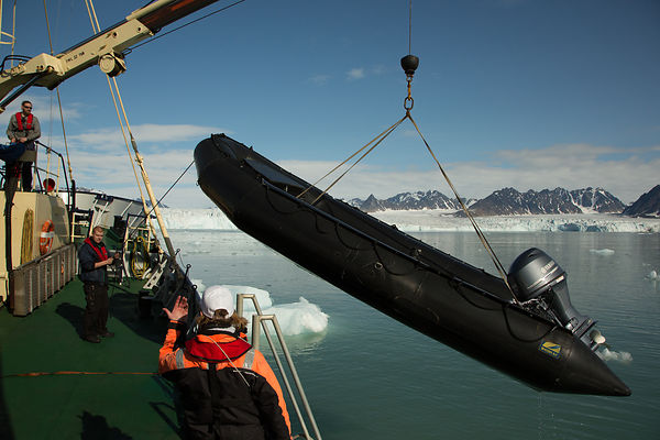Taking in the Zodiacs - Svalbard 2015