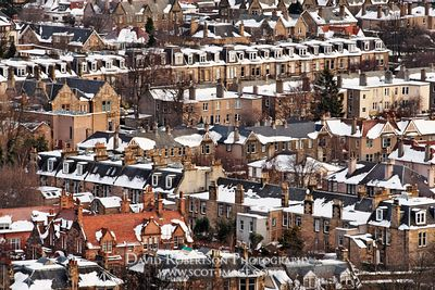 Image - Winter, rooftop view of the Sciennes, Edinburgh