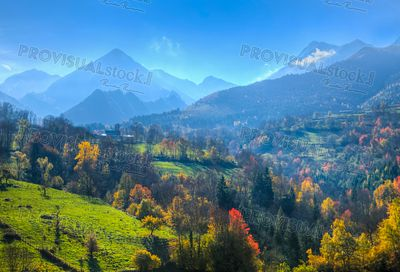 Autumn in Pyrenees Mountains