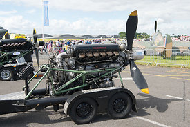#121293,  Rolls Royce Merlin engine used these days for displays, Farnborough Air Show, 2016.  It was used mainly in Avro Lan...