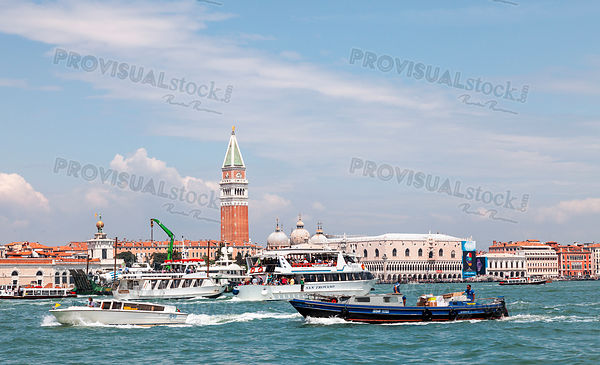 Intense Nautical Traffic in Venice