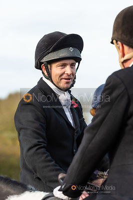 Ben Hobday at the meet. The Middleton Hunt at Bugthorpe 9/11