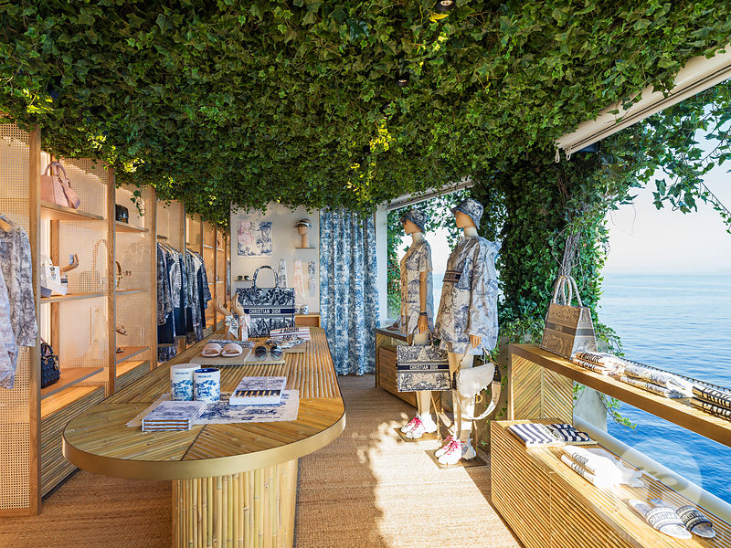 Retail architecture photographer -  Dior Resort store and lounges in Capri, Italy. Photo ©Kristen Pelou