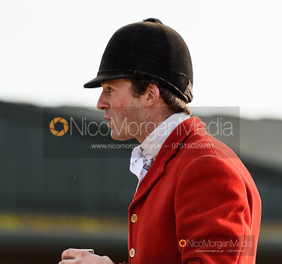 William Bell at the meet - The Cottesmore Hunt at the kennels 31/10