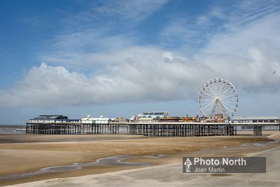 BLACKPOOL 16A - Central Beach and Central Pier, Blackpool