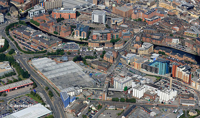 Tetley's Brewery Leeds aerial photograph