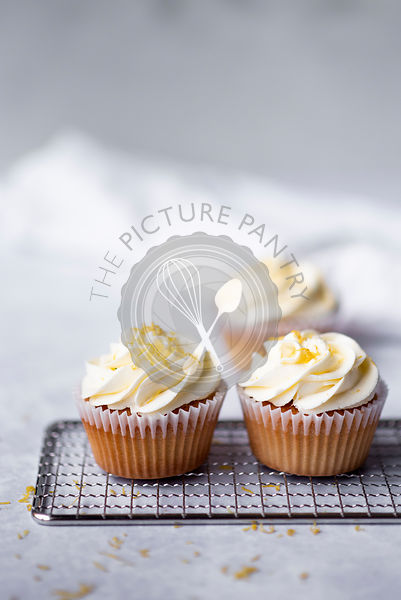 Lemon Vanilla Cupcakes With A Lemon Zest and Buttercream Frosting
