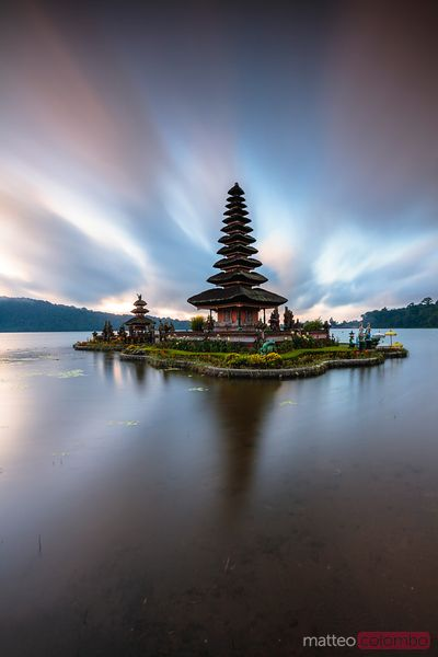 Pura Ulun Danu Bratan temple at dawn, Bali, Indonesia