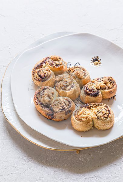 Palmiers with jam and crumble
