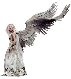 Pensive Winged Angel