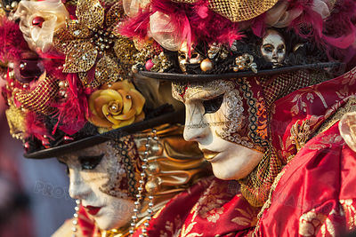 Two Venetian Masks