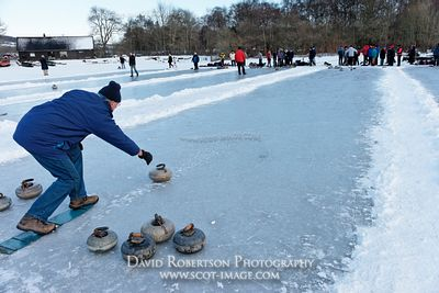 Image - Curling match on the Lake of Menteith, Scotland