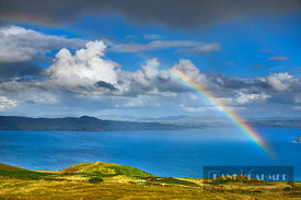 Ocean impression with rainbow - Europe, Ireland, Donegal, Horn Head - digital