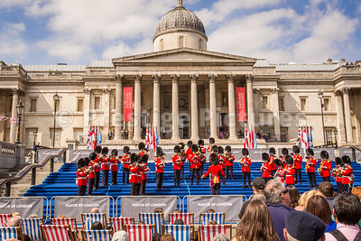 the Band of the Grenadier Guards Performing in Trafalgar Square as part of the VE70 Celebrations