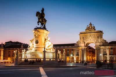 Praca do Comercio at night, Lisbon, Portugal
