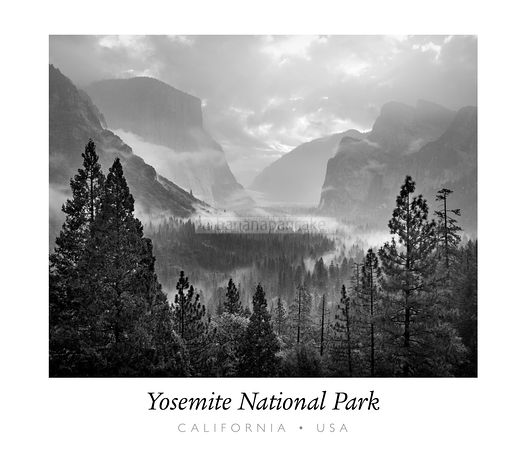 Mist, Yosemite Valley, with text - BP0858BTEXT