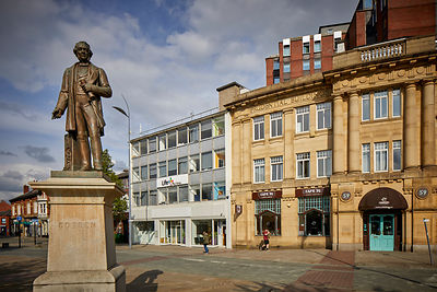 Cobden statue Stockport