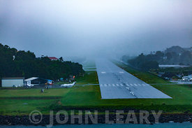 The Runway at Castries Airport St Lucia.