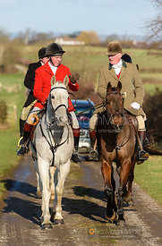 Tom Kingston arriving at the meet. The Tynedale hounds visit the Belvoir Hunt at Sheepwash 12/2