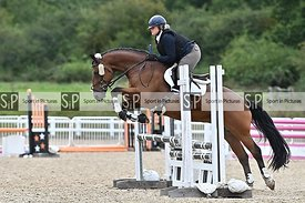 Stapleford Abbotts. United Kingdom. 31 August 2020. Unaffiliated combined training showjumping. MANDATORY Credit Garry Bowden...