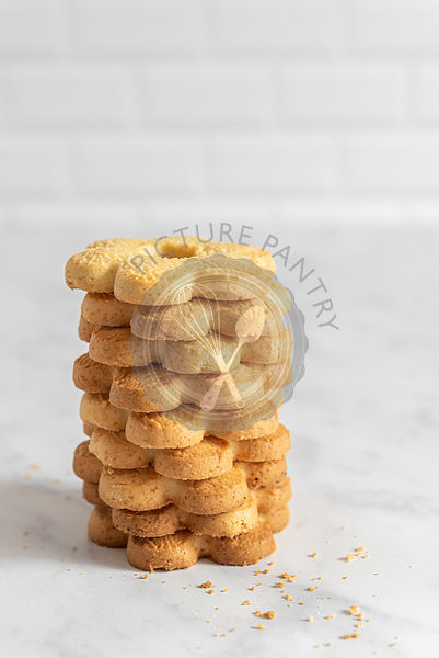 Stack of Canestrelli Italian Butter Biscuits