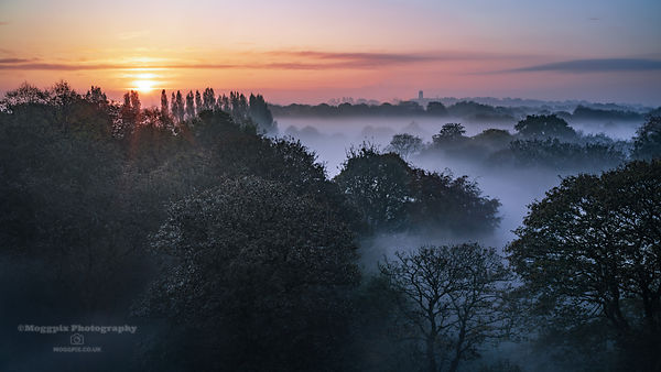 A Misty Morning Sunrise